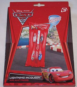 Disney Cars Lightning McQueen Kids Inflatable Pool Air Mattress New