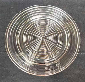 "Anchor Hocking Fire King Manhattan Glass 10"" Dinner Plate No Chips Deco"