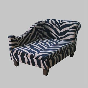Luxury Zebra Print Pet Bed for Dogs Cats New Cozy Sofa for Small Dog or Cat