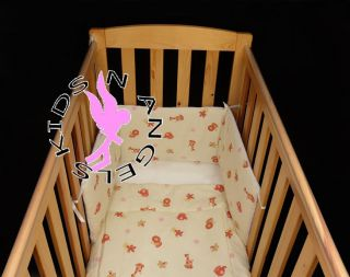 Animal Print Baby Cot Quilt and Bumper Bedding Set Made in UK