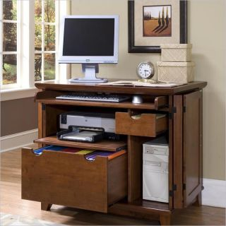 Home Styles Arts Crafts Compact Cabinet Cottage Oak Computer Desk