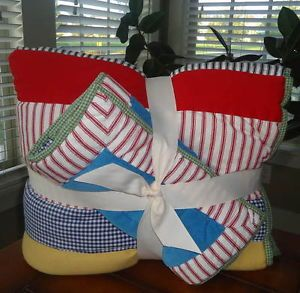 Pottery Barn Kids Baby Boy Dr Seuss Nursery Bedding Quilt Sham Set New Multi