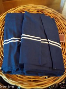 Pottery Barn Kids Baby Bassinet Nursery Pique Bedding Bed Set Bumper Skirt Navy