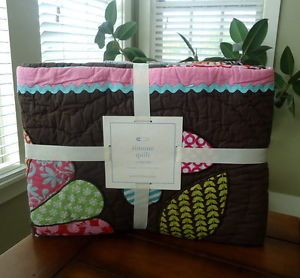 Pottery Barn Kids Baby Simone Nursery Bedding Toddler Quilt Sham Chocolate