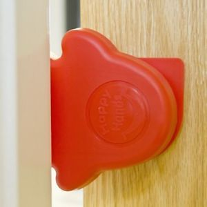 Happy Hands Door Stopper Red Baby Child Proofing Safety Stop Fingershield