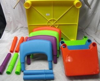 Tot Tutors Children Furniture TC911 Kids Table and 4 Chair Set Plastic