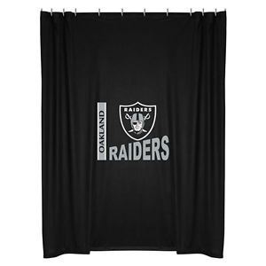 NFL Oakland Raiders Decorative Shower Curtain Football Bathroom Accessories
