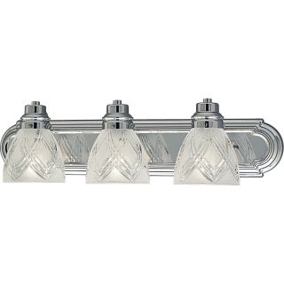 Progress Lighting Bath Vanity Polished Chrome 3 Light Fixture P3044 15