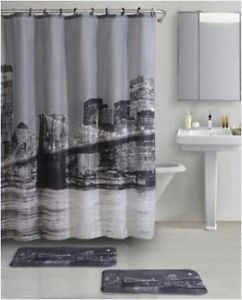 Skyline 2 PC Memory Foam Bathroom Mat Rug Carpet Memory Foam Set