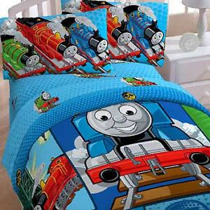 Thomas Train Twin Bed in Bag Tank Engine Railroad Comforter Sheets Bedding Set