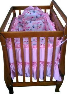 6 Piece Mini Crib Pink Hello Kitty Bedding Set Home And
