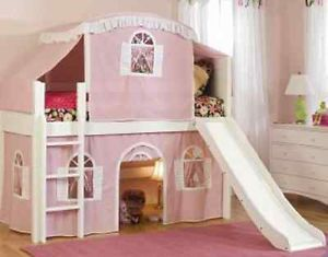 Children Kids Girls Bedroom Furniture Pink Cottage Loft Tent Bed New CLEARANCE