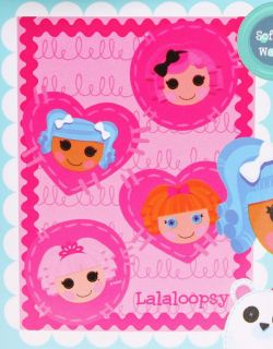 "Lalaloopsy Kids Girls Fleece Throw Bedding Bed Blanket 45"" x 60"""
