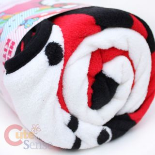 Sanrio Hello Kitty Plush Throw Blanket Microfiber Face