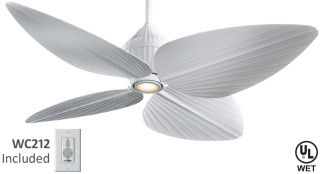 Minka Aire F581 WHF Gauguin Tropical Outdoor Ceiling Fan