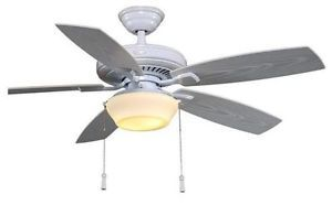 Hampton Bay Gazebo 52 inch Indoor Outdoor Ceiling Fan with Light Kit White