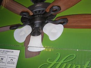 "Hunter 52"" Hayden Ceiling Fan with Bronze Finish with Light Kit"