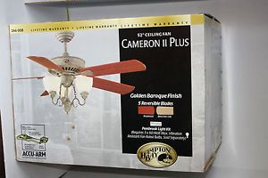 Hampton Bay 52 in Cameron 2 3 Speed Reversible Pembrook Light Kit Ceiling Fan