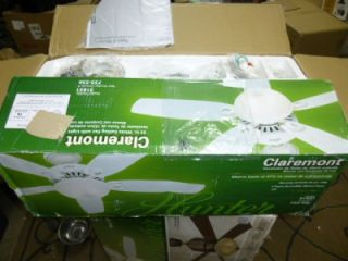Hunter Claremont 52 in White Ceiling Fan with Light Kit