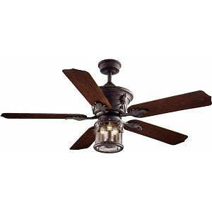Hampton Bay Milton 52 in Indoor Outdoor Oxide Bronze Patina Ceiling Fan