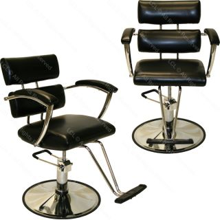 Sturdy Hydraulic Barber Chair Wall Mount Styling Station Mat Spa Salon Equipment