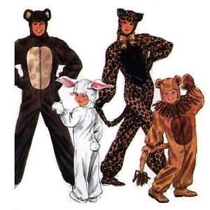 Simplicity Sewing Pattern 9983 Adult Animal Costumes Leopard Rabbit etc s L