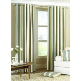 Gatsby Striped Duck Egg Blue Ring Top Curtains 229 x 183