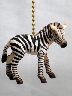Zebra African Horse Safari Jungle Novelty Home Decor Ceiling Fan Light Pull