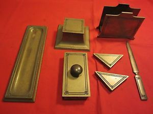 Vintage 7 Piece Bradley Hubbard Desk Set