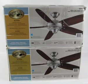 "Lot 2 Hampton Bay Altura Indoor 56"" Ceiling Fan 5 Blades 834492 Sold as Is"