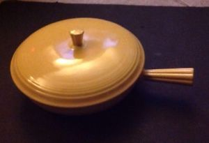 Vintage Fiesta Ware Yellow Covered French Casserole 1940 1943