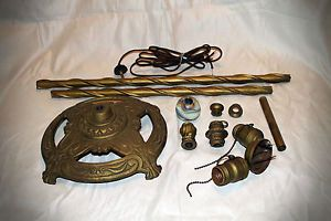 Antique Art Deco Floor Lamp Parts Vintage Lighting