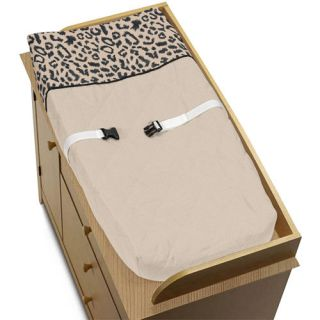 Sweet JoJo Designs Changing Table Pad Cover for Animal Print Safari Baby Bedding