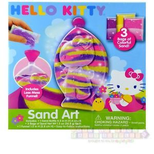 Hello Kitty Sand Art Birthday Party Supplies Craft Kit Game Activity Prize