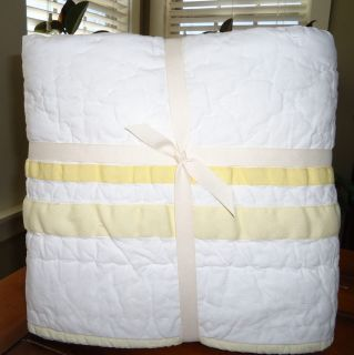 Pottery Barn Kids Baby Harper Nursery Bedding Quilt Small Sham Set Yellow