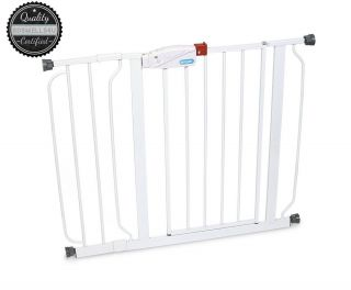 White Regalo Easy Step Walk thru Gate Baby Toddler Pet Child Safety Doorway New