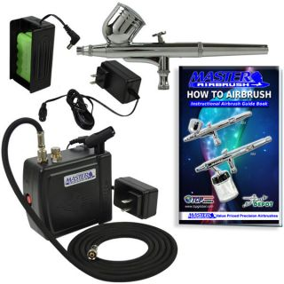 New Airbrush Kit 12V Compressor Nail Tattoo Dual Action Spray Air Brush Gun Set