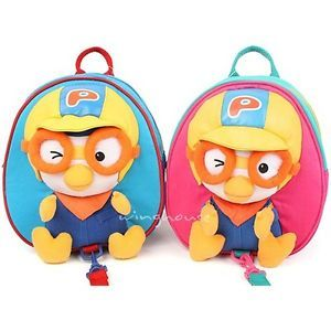 Pororo 3th Safety Harness Backpack Bag for Kids Toddler Baby Blue Pink