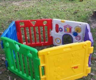 Today's Kids Play Yard Play Pen 6 Panels Baby Toddler Enclosure