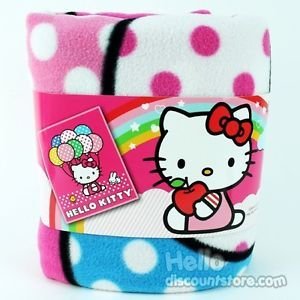 Sanrio Hello Kitty Plush Throw Blanket Balloon