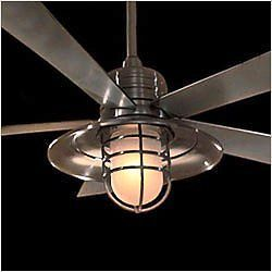 "New 54"" Nautical Any Decor Indoor Outdoor Ceiling Fan Light Kit Wall Control"