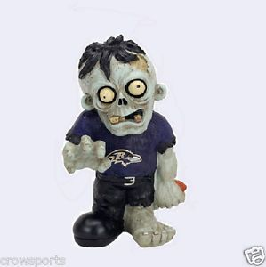 Baltimore Ravens Zombie Garden Gnome Resin Statue Gift NFL New
