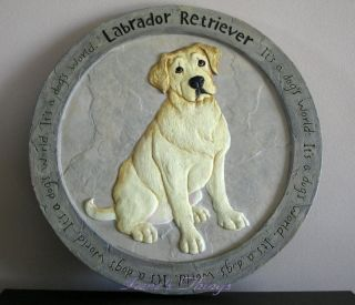 Labrador Retriever Dog Outdoor Garden Stepping Stone