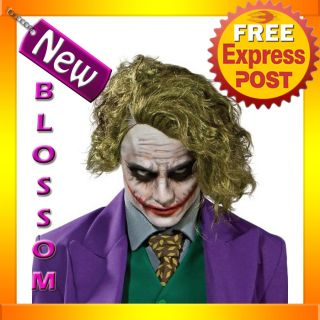 W40 Mens Batman Dark Knight The Joker Adult Fancy Dress Costume Wig