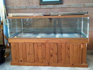 125 Gallon Commercial Fish Tank Aquarium with Light Fixture and Stand