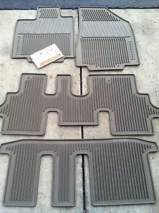 2013 2015 Nissan Pathfinder Beige 4pc Rubber All Weather Floor Mats