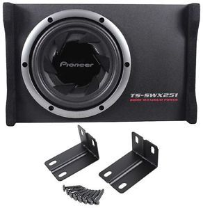 "Pioneer TS SWX251 10"" 800 Watt Loaded Subwoofer Shallow SEALED Sub Enclosure 884938126892"
