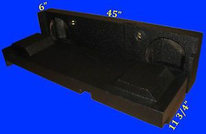 "Chevrolet Chevy Avalanche 8"" Poly Armor Coated Subwoofer Sub Enclosure Box"