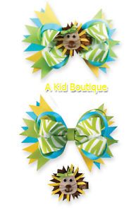 Mud Pie Baby Infant Girls Safari Lion 3 in 1 Bow Cute Green Yellow 0M 5T