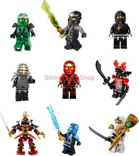 Ninjago Lego 9 Characters Decal Removable Wall Sticker Home Decor Art Bedroom